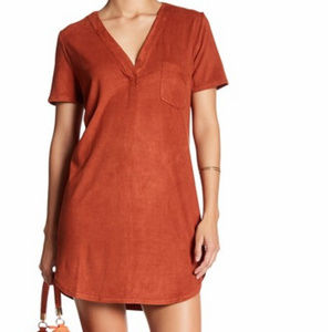 YFB Isla Faux Suede Mini Dress
